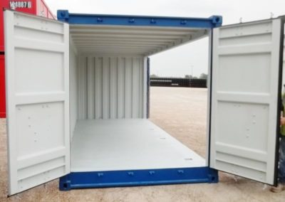 DNV 20' Open Side Cargo Door open